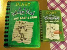 """Diary of a Wimpy Kid """"The Last Straw"""" cake."""