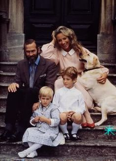 Prince Michael & Marie Christine of Kent with their two children: Frederick & Gabriella