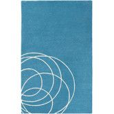 Found it at Wayfair - Solid Bold Teal Area Rug