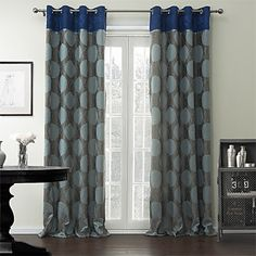 (One Panel) Baroque Round Rayon Energy Saving Curtain  – USD $ 49.99