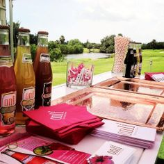 Onli Beverages sampling bar at Irie Weekend 2014 at Miami Beach Golf Club Golf Tournament