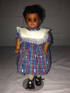 "Antique Bisque 13"" ARMAND MARSEILLE AA AFRICAN AMERICAN BLACK DEP DOLL RARE"