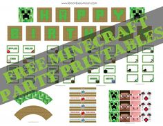 Free Minecraft Printables!  PARTY FEATURE | Minecraft
