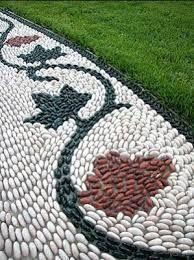 Image result for decoração de jardim com pedras