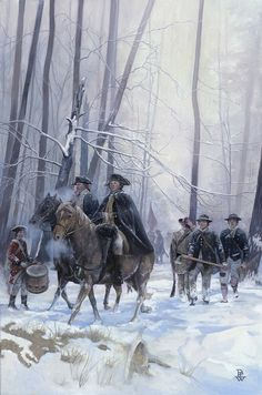 """AWI Americans: The Bitter Winter at Jockey Hollow, by Pamela Patrick White. The Continental Army spent the Winter of 1780 at Morristown, NJ. The blizzards that drove through the Jockey Hollow encampment that January were the most severe on record, blocking roads and """"greatly obstructing the transportation of supplies"""" (Gen. Washington). This was the only Winter in recorded American history during which the waters around New York City and the Chesapeake Bay were """"frozen solid""""."""