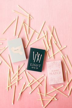 These DIY matches are totally cute, inexpensive + work as a perfect personalized wedding favor.