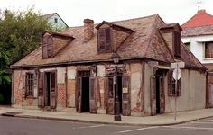 Jean Lafitte's blacksmith shop in New Orleans. It was a front for Lafitte to sell exotic items to the colonists and not have to claim that income on his taxes. The story goes that he found out six of his men were skimming money from him, so he fed all six of them into the hot coals of the blacksmith forge, feet first. He made the other men watch until it was their turn. It apparently took over 3 hours to burn each man to death.
