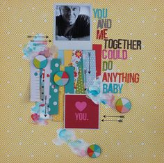 you and me baby by neicygirl, via Flickr. use remaining pieces from booklet of torn out journaling cards