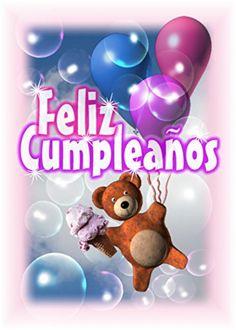 Spanish Happy Birthday-Feliz Compleanos blank inside greeting card Valxart  $6.00 with free shipping from amazon