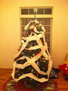 Elf on the Shelf Idea Toilet Papered Tree