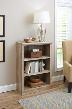 better homes and gardens crossmill collection 3 shelf bookcase multiple finishes - Home And Garden Furniture Collection