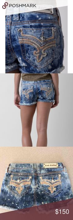 ROCK REVIVAL SHORTS New with tags size 26. Pictures posted are my personal pair (size 28), but the ones I'm selling are NEW WITH TAGS! I will upload more pictures of the actual size 26s I'm selling tomorrow. NO TRADES. OFFERS WELCOME! ❤ Rock Revival Shorts Jean Shorts