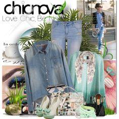 """Chicnova fashion!"" by bilbomex on Polyvore Mega Fashion, Denim, Chic, Polyvore, Shabby Chic, Elegant, Jeans"