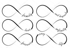 Baixar - Símbolos de infinito — Ilustração de Stock #49857303
