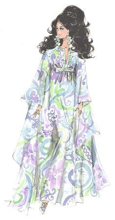 Robert Best / Illustration of Palm Beach Breeze Barbie 1960s Fashion, Fashion Dolls, Fashion Art, Fashion Design, Barbie Fashion Sketches, Vintage Fashion Sketches, Illustration Mode, Fashion Illustration Sketches, Creation Art
