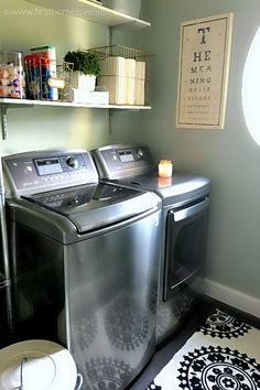 Laundry Room Refresh via First Home Love Life