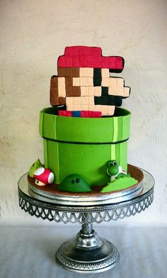 Amazing Mario Cake Blends 8-Bit and Modern Character Designs