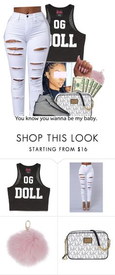 """""""You know wanna be my Baby"""" by heavensincere ❤ liked on Polyvore featuring Forever 21, Harrods and Michael Kors"""