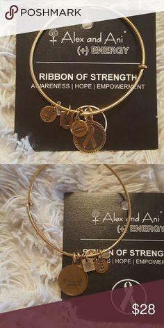 Alex and Ani bracelet Beautiful alex and Ani breast cancer bracelet, NEW, I'm sorry, no box...does not have a price tag Alex & Ani Jewelry Bracelets