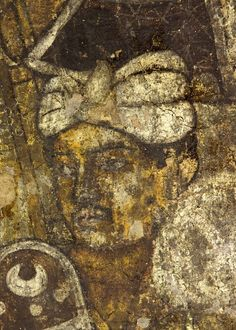 at the height of India's golden age, when in the Gangetic plain, the fifth-century Gupta dynasty was filling their capital of Kannauj with some of the greatest masterpieces of Indian sculpture, and when Kalidasa was writing his great play, The Cloud-Messenger.  From this period date the rich picture cycles of wall painting in caves one and two.