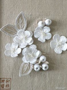 3D white embroidery Embroidery 3d, Hardanger Embroidery, Silk Ribbon Embroidery, White Embroidery, Cross Stitch Embroidery, Machine Embroidery, Embroidery Designs, Art Textile, Brazilian Embroidery