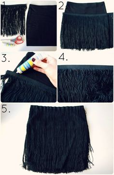 DIY flapper fringe skirt.