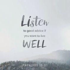 Listen to good advice