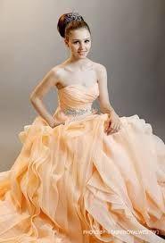 橘色晚禮服圖片 - Google 搜尋