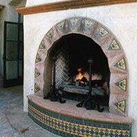 Fireplace Decorative Tiles Spanish Style Fireplace  Decor  Fireplaces & Porches  Pinterest