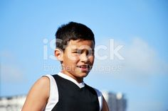 Pacific Island Boy royalty-free stock photo