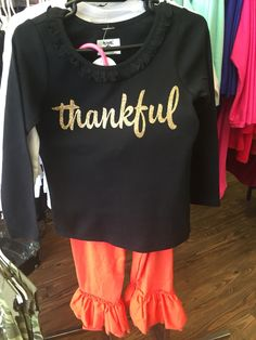 Thankful shirt and onesies  3month-6t 24.00 https://www.facebook.com/Hairtiques-Salon-196914670326206/