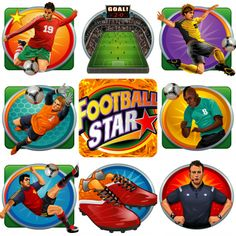 All the football graphics to expect across the 5 reel 243 ways video slot