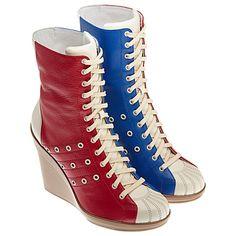 Jeremy Scott high heeled boot bowling shoes, only 350 bucks gals.