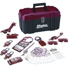 Personal lockout kit includes three keyed alike& safety padlocks& one lockout hasp& one labeled lockout hasp& 12 tags& three 120 volt and two 240 volt circuit breaker lockouts and a wall switch lockout. Glass Door Lock, Sliding Glass Door, Electrical Breakers, Biometric Security, Lockout Tagout, Pocket Door Hardware, Metal Lockers, Key Storage, Colorful Backpacks