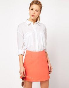 Always need oversized boyfriend shirt. From asos.