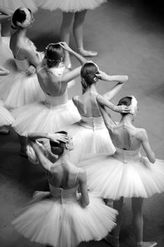 tutus and behind the stage