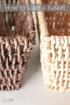 How To Stain A Basket (when you can't find your desired shade).