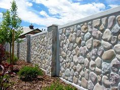 Stone Textures - Realistic Masonry Looks in Precast Concrete House Front Wall Design, Fence Wall Design, House Roof Design, Stone Wall Design, Modern Fence Design, Landscape Concept, Landscape Walls, Spanish Landscaping, Brick Wall Gardens