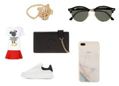 """Untitled #1436"" by tal-haliva on Polyvore featuring Alexander McQueen, Victoria, Victoria Beckham, Victoria Beckham, Gucci, Kenzo and Ray-Ban"