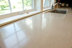 SMOOTH - You achieve this finish by just honing the surface lightly with an orbital sander or hand polisher and a diamond pad.