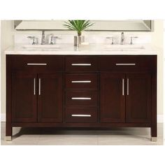 Free Shipping when you buy Empire Industries Monaco 60 Double Bathroom Vanity Set at Wayfair - Great Deals on all Furniture products with the best selection to choose from!