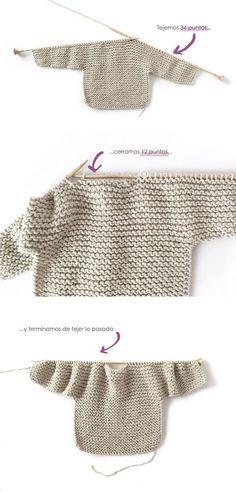 Knitted Kimono – NUR Baby Jacket Pattern & Tutorial - How to make a Knitted K., Knitted Kimono – NUR Baby Jacket Pattern & Tutorial - How to make a Knitted Kimono Baby Jacket – Free knitting Pattern & tutorial - Baby Sweater Knitting Pattern, Sweater Knitting Patterns, Free Knitting, Free Baby Knitting Patterns, Knit Patterns, Knit Baby Sweaters, Sewing Patterns, Mohair Sweater, Vogue Patterns