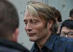 Mads Mikkelsen at the 7th Festival Lumiere in Lyon, France - Valhalla Rising Presentation (10-14-2015). #BestHairEver