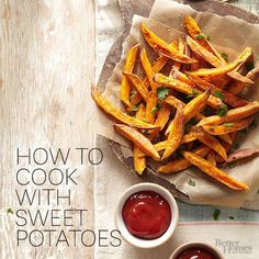 Sweet potatoes are naturally sweet, nutritious, and so versatile. Whether you like them baked, mashed, in a pie, or as fries, we have an easy sweet potato recipe for you to try.