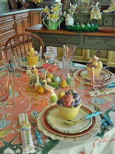 Here Comes Easter! tablescape