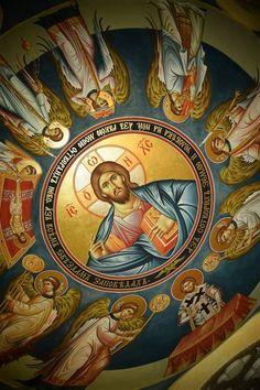 Fresco, Church Interior, Byzantine Icons, Religious Icons, Orthodox Icons, Large Art, Holy Spirit, Folk Art, Catholic