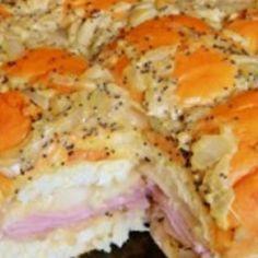 King's Hawaiian Baked Ham & Cheese Swiss Sandwiches.