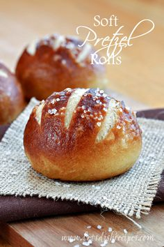 Oh my goodness friends! These Soft Pretzel Rolls are amazing and totally worth your time and effort in the kitchen. They have a chewy, golden outer crust and a soft center, just like a soft pretzel...
