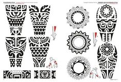 Interest tattoo ideas and design - Polynesian Maori Circle Tattoo Design Photo - If you want to make a tattoo, look how it looks from other people! Maori Tattoos, Tattoo Maori Brazo, Tribal Arm Tattoos, Samoan Tattoo, Leg Tattoos, Sleeve Tattoos, Polynesian Tattoo Designs, Polynesian Tribal, Maori Tattoo Designs