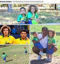 Sósias de Thiago Silva e David Luiz  só querem saber de futebol #globoesporte
